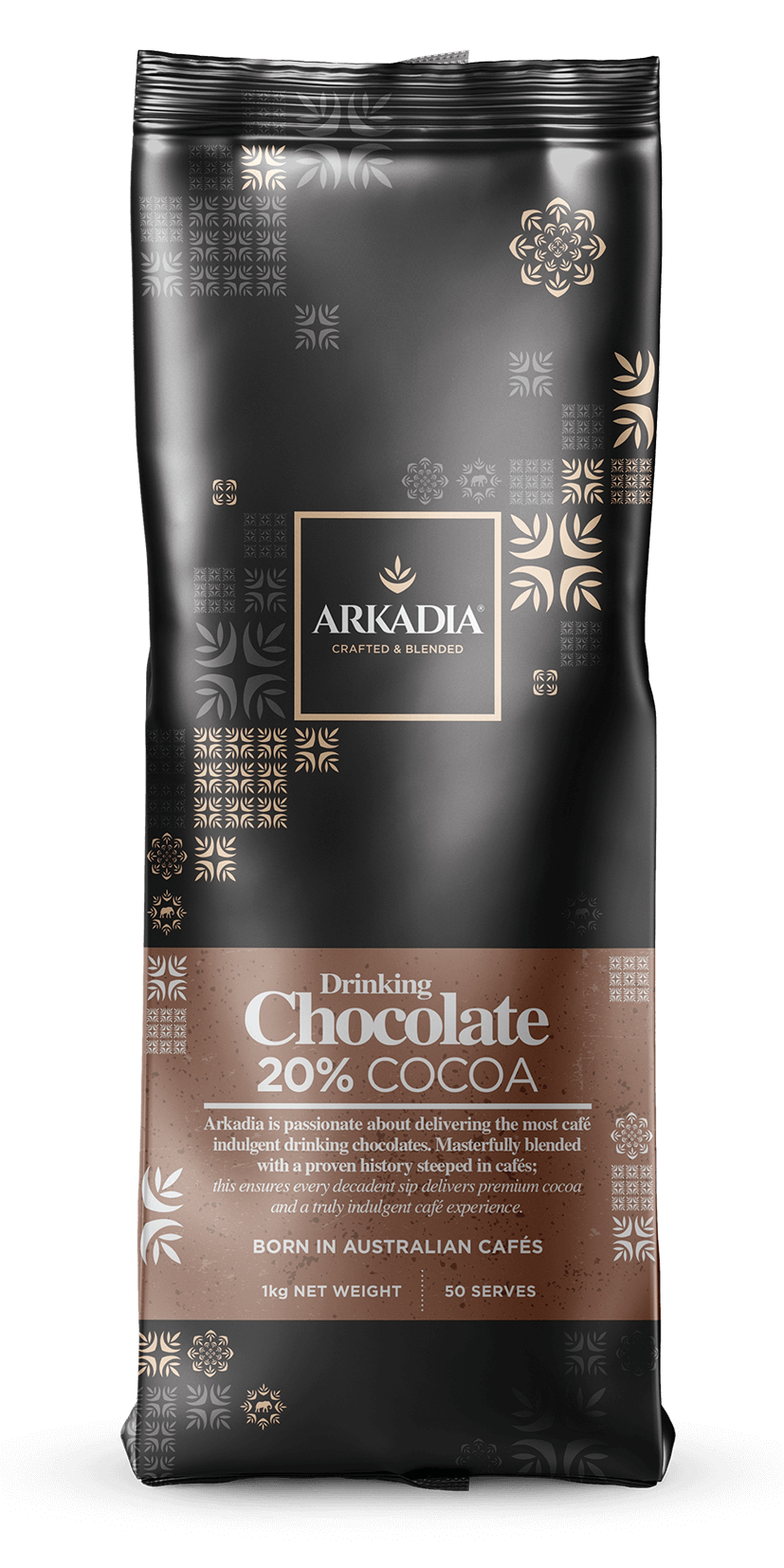 Arkadia Drinking Chocolate 20% Cocoa (Cappuccino Powder) 1kg